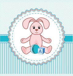 label toys a rabbit vector image