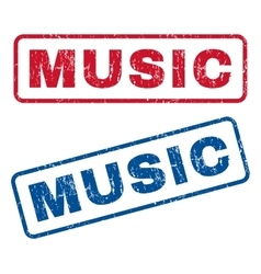 Music rubber stamps vector