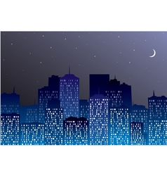 night city silhouette vector image vector image