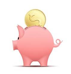 Pig piggy bank vector image vector image