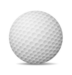 Realistic golf ball isolated on white vector