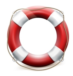 Red life buoy on white background eps 10 vector