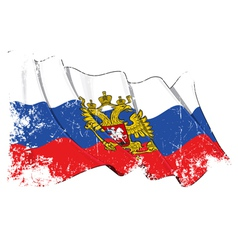 Russia state flag grunge vector