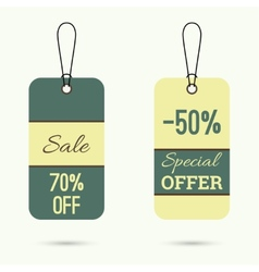 Set price tag vector image