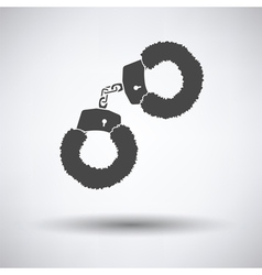 Sex handcuffs with fur icon vector image vector image
