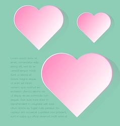 Simply infographic pink heart symbol with long vector