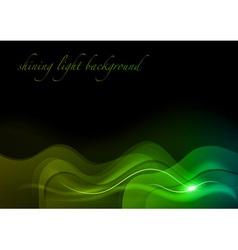 Wave neon light vector