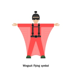 Wing suit flying vector