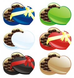 chocolate boxes vector image
