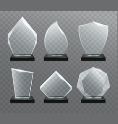 glass transparent trophy awards vector image