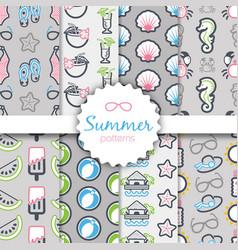 Summer seamless pattern vacation vector