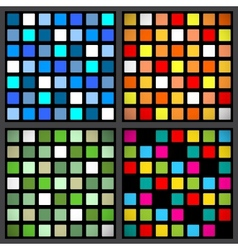 Stained-glass window patterns vector