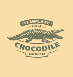 crocodile logo - alligator vector image