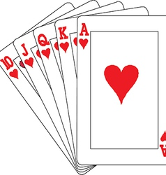 A royal straight flush playing cards poker vector