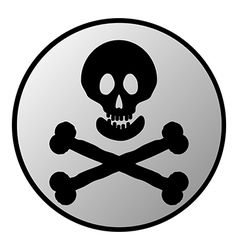 Jolly roger button vector
