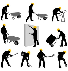 construction workers 2 vector image