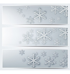 Set of grey christmas banners vector