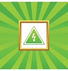 High voltage picture icon vector
