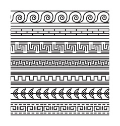 Seamless greek pattern set vector