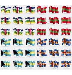Central african republic transnistria bahamas vector