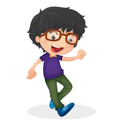Young boy vector image