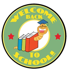Bookworm With Text Back to School vector image vector image