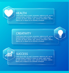 business infographic glass horizontal banners vector image vector image