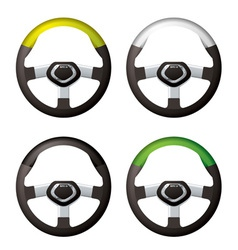 car steering wheels vector image vector image