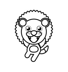 Cartoon lion animal outline vector