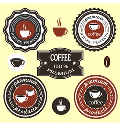 Coffee labels for design vector image