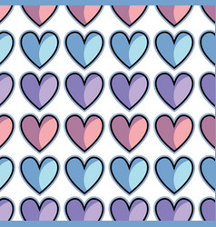 Color cute heart love icon background vector