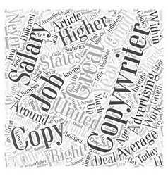 Copywriting as a job word cloud concept vector