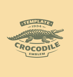 crocodile logo - alligator vector image vector image