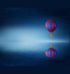 fly over the sea vector image