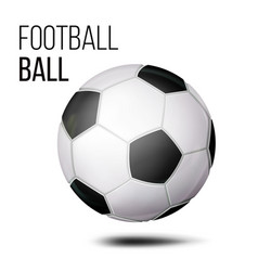 football ball isolated soccer ball vector image vector image