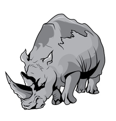 High quality rhinoceros cartoon vector