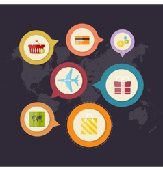 Infographics purchase and delivery of goods vector image