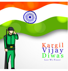 kargil vijay diwas 26th july vector image