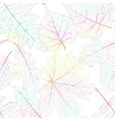 Leaf seamless abstract background EPS 10 vector image vector image