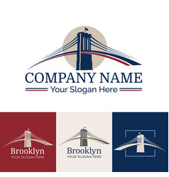 Logo brooklyn vector