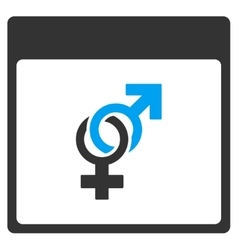 Marriage calendar page toolbar icon vector