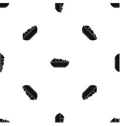 Nachos in bowl pattern seamless black vector