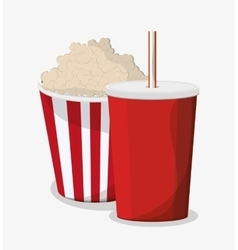 Pop corn and soda design vector