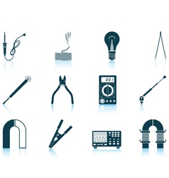 Set of soldering icons vector image