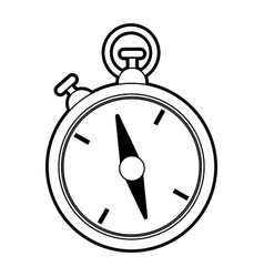 sketch silhouette image stopwatch icon vector image