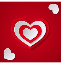 Small hearts vector image vector image