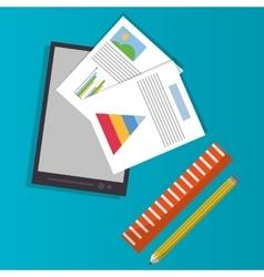Spreadsheet smartphone infographic design vector image