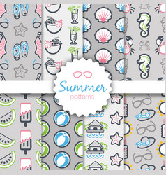 Summer seamless pattern vacation vector