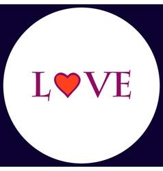 Text love computer symbol vector