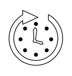 Time clock wall with arrow vector
